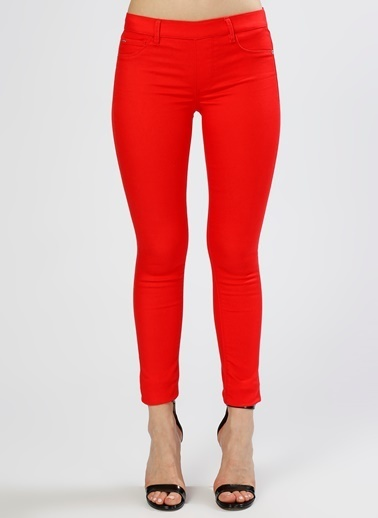 Only Only Skinny Kırmızı Denim Pantolon Kırmızı